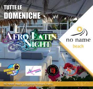 No Name Beach - Fermo - Domenica Afro Latina